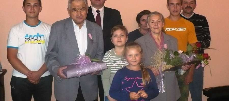 Jubilaci i ich dzieci przygotowali miłe przyjęcie, na które zaprosili wójta Gminy Braniewo