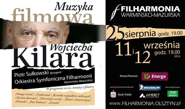 Koncert muzyki filmowej Wojciecha Kilara w filharmonii - full image
