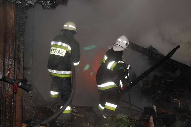 Małkinia. Andrzejewo. Dwa pożary - płonęły budynki - full image