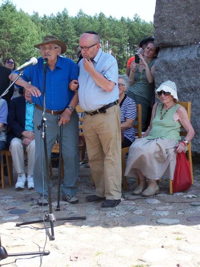 Ostatni świadek – Samuel Willenberg – obecny był na uroczystościach w Treblince - full image