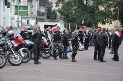 Motocykliści zatrzymali się na Placu Wolności