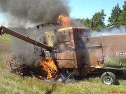Do pożaru kombajnu doszło we wsi Modlinek