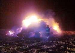 W gaszeniu pożaru wzięły udział cztery zastępy straży