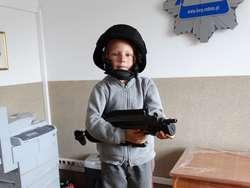 Dzieci mogły przymierzyć policyjny strój
