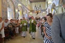 Na uroczystą mszę przybyło wielu mieszkańców gminy