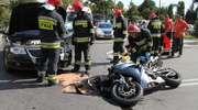 Volkswagen uderzył w motocykl. Wypadek na Bałtyckiej
