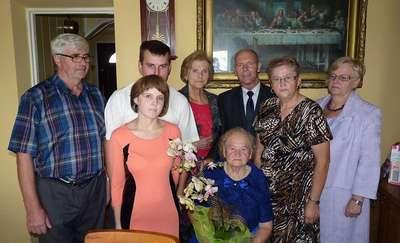 Pani Franciszka obchodziła swoje 90 urodziny