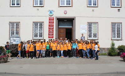 Odwiedziła ich młodzież z Mołdawii