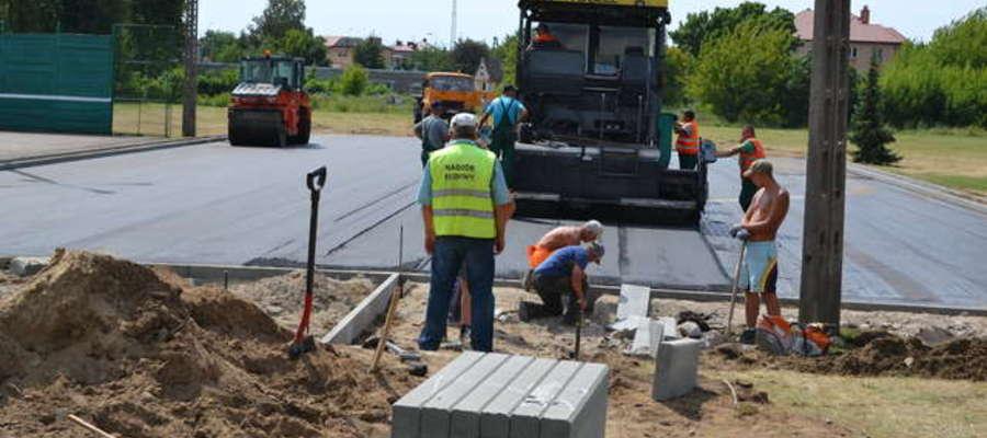 Pod koniec lipca trwała jeszcze budowa placu manewrowego w Mławie