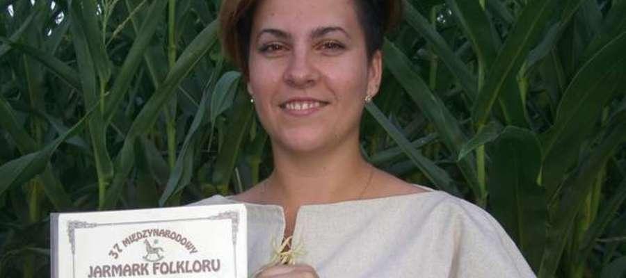 Emilia Babińska jest dwukrotną laureatką konkursów śpiewaczych na Międzynarodowym Jarmarku Folkloru w Węgorzewie