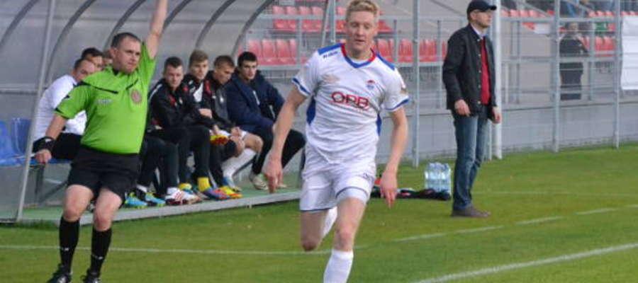 Piotr Piceluk zdobył jedną z bramek dla Sokoła.