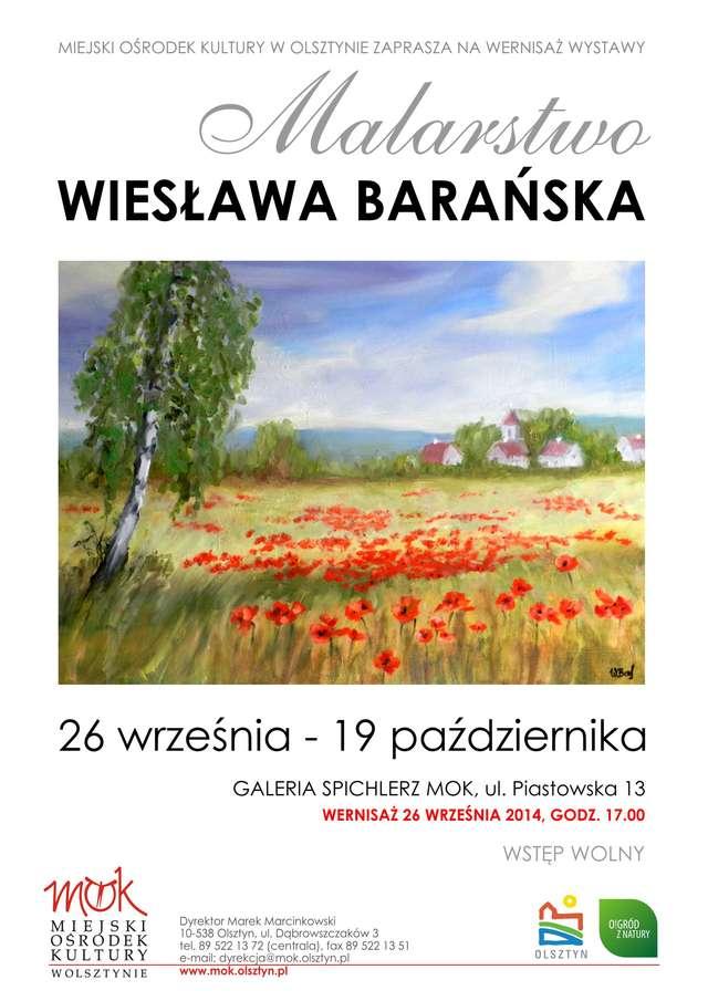 """""""Mój punkt widzenia"""" — wernisaż wystawy Wiesławy Barańskiej - full image"""