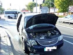 Wersję kierowcy chryslera obaliło nagranie z monitoringu