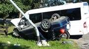 """Kierowca skody uderzył w busa z dziećmi. """"Cud, że nikt nie zginął"""""""