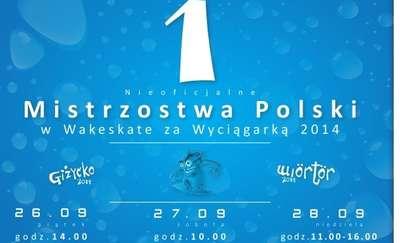 Pierwsze Nieoficjalne Mistrzostwa Polski w Wakeskate za Wyciągarką Giżycko 2014