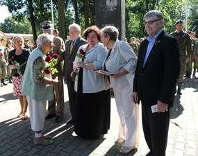 Michał Jasudowicz (pierwszy z prawej) podczas tegorocznych obchodów  Dnia Sybiraka