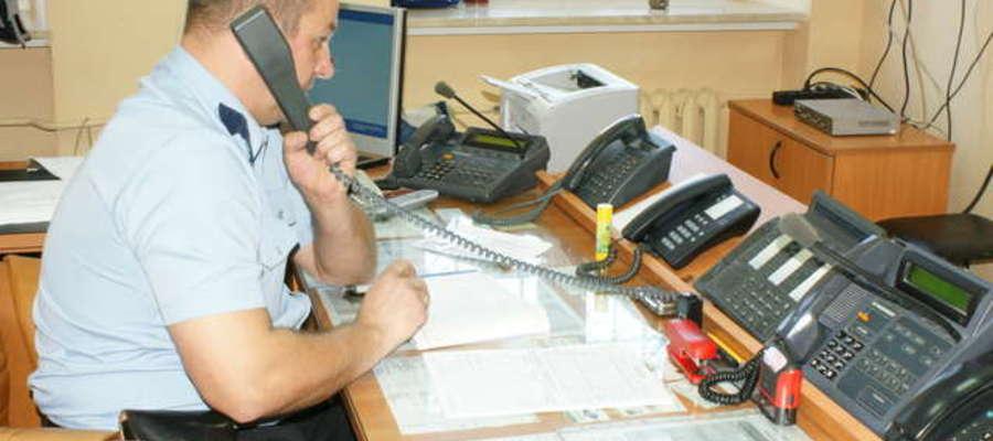Policjanci otrzymali zgłoszenie telefonicznie
