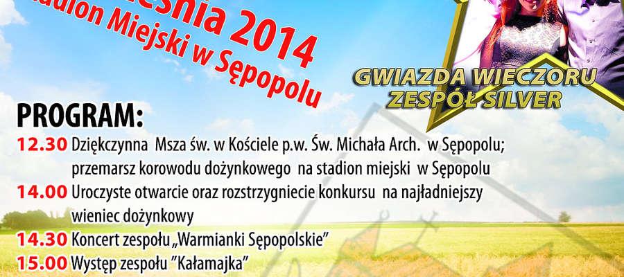 Zapraszamy na dożynki gminne w Sępopolu.