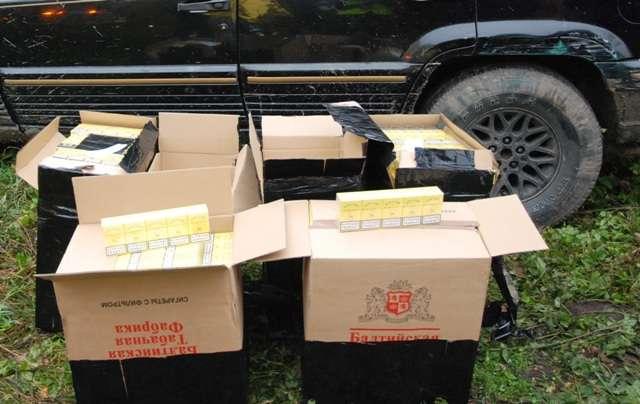 Papierosy znalezione w mieszkaniu przemytnika z powiatu bartoszyckiego.