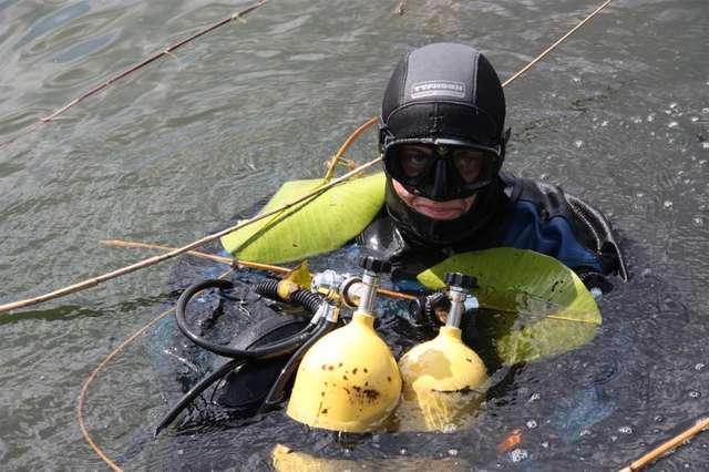 Skarby na dnie jeziora Gil Wielki w Miłomłynie - full image