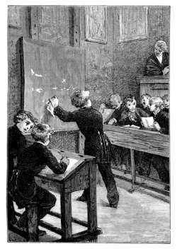 Kiedyś uczniów na zajęcia prowadzili niewolnicy