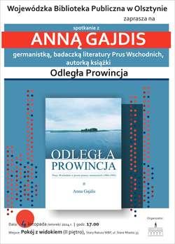 Anna Gajdis w Wojewódzkiej Bibliotece Publicznej w Olsztynie