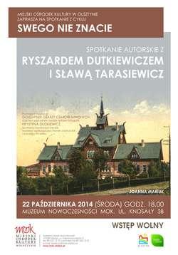 Spotkanie autorskie z Ryszardem Dutkiewiczem i Sławą Tarasiewicz