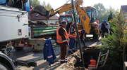 Poważna awaria wodno-kanalizacyjna w Gutkowie. Zdjęcia