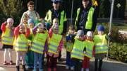 Radosne przedszkolaki odwiedziły miasteczko ruchu drogowego