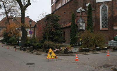Chodnik przy kościele farnym doczekał się remontu