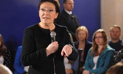 Premier Ewa Kopacz w Pasłęku. Spotkała się z przedsiębiorcami