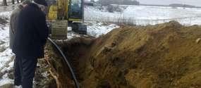 Budowa sieci wodociągowej Grzybiny - Uzdowo