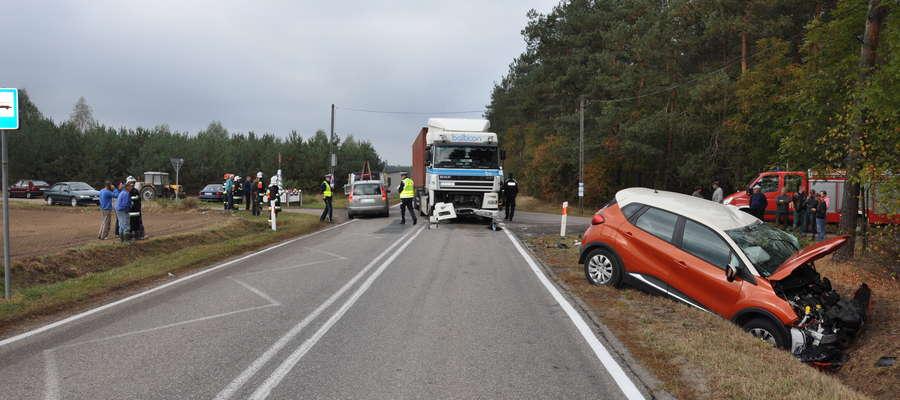 Samochód 26-latki był kompletnie zniszczony.