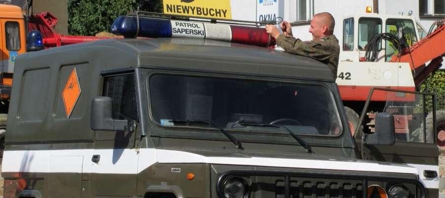 Zdjęcie jest ilustracją do artykułu, pochodzi z akcji saperów na ulicy Dąbrowskiego w Iławie