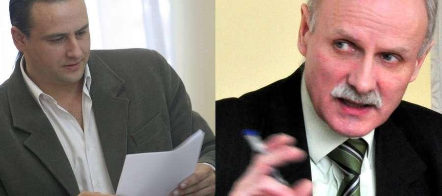 W wyborach na burmistrza Kisielic jest dwóch kandydatów: Rafał Ryszczuk (z lewej) i Tomasz Koprowiak (z prawej)