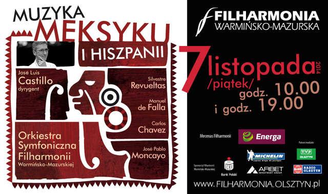 Muzyka Meksyku i Hiszpanii w olsztyńskiej filharmonii - full image