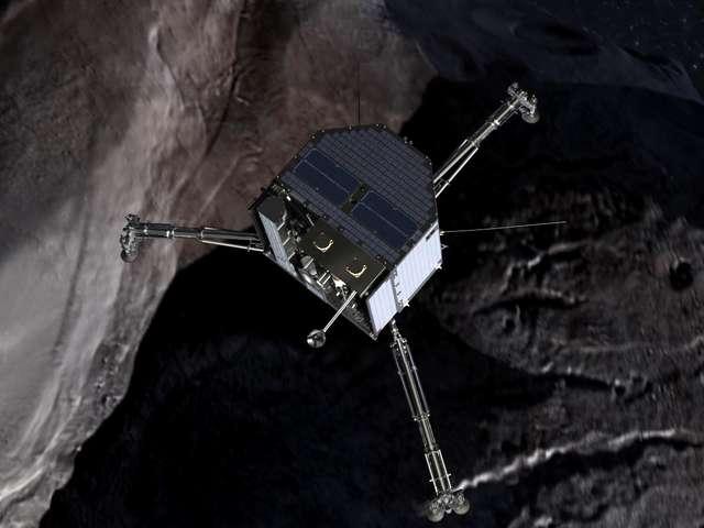 Ziemianie dopadli kometę - full image