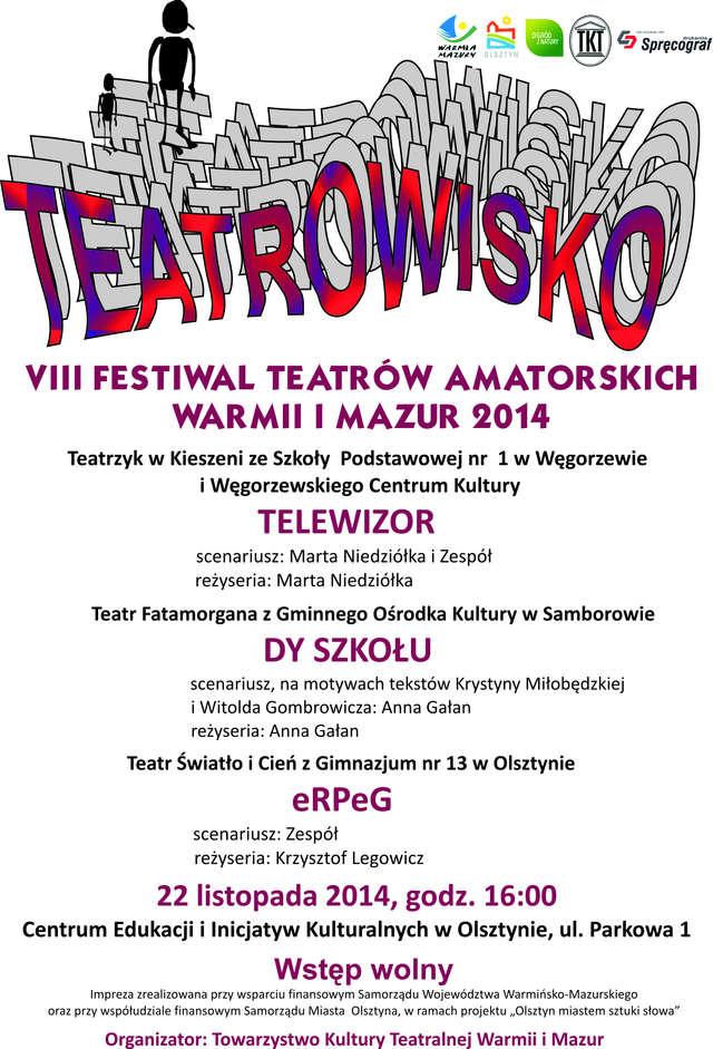 """Olsztyn miastem sztuki słowa""- Teatrowisko 2014   - full image"