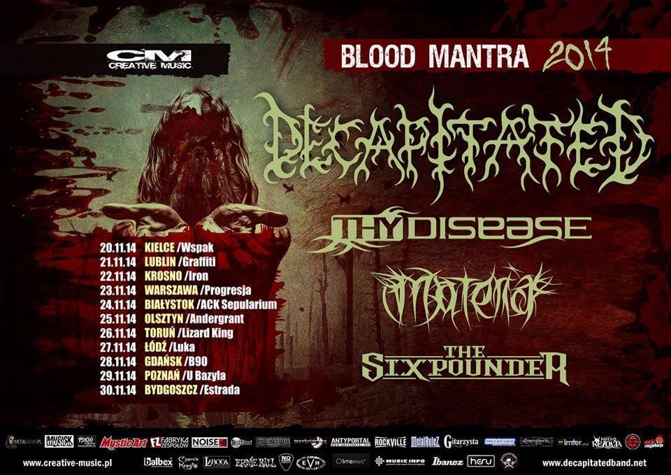 DECAPITATED w Olsztynie na trasie Blood Mantra Tour 2014