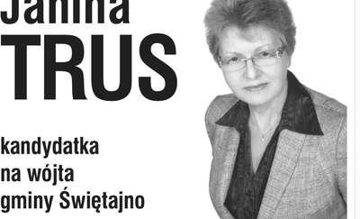 Janina Trus - kandydatka na wójta gminy Świętajno