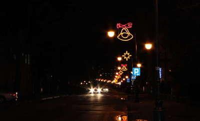 Świąteczne ulice Ełku