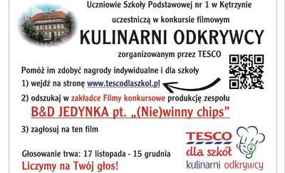 """Pomóż szkołom z powiatu kętrzyńskiego stać się największymi """"Kulinarnymi odkrywcami"""""""