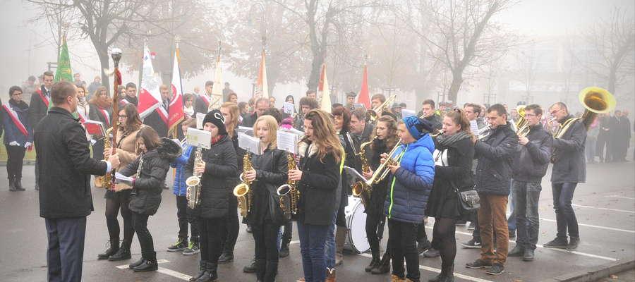 Świetnie podczas uroczystości zaprezentowała się żuromińska orkiestra