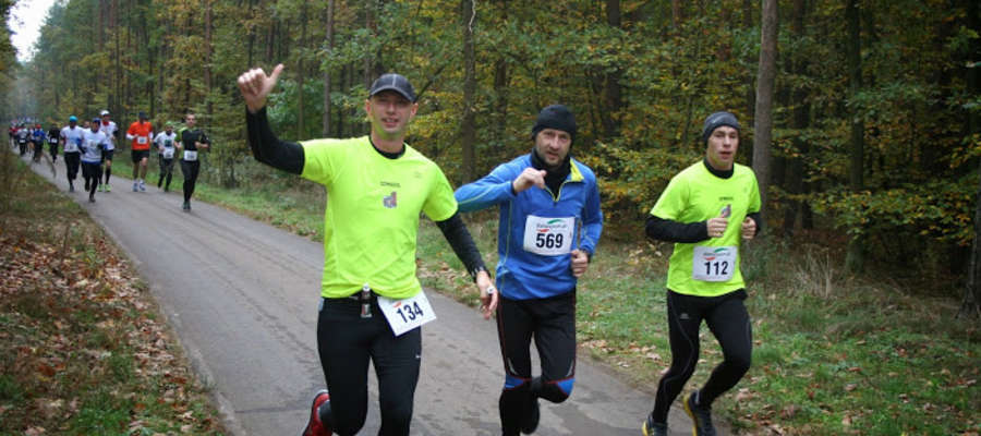 Iławianie na trasie: od lewej Radosław Etmański, Maciej Szypnik i Michał Dembowski