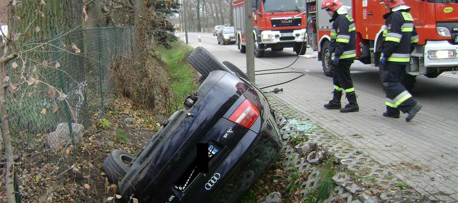 W wypadku w Gałwunach na szczęście nikt nie ucierpiał.