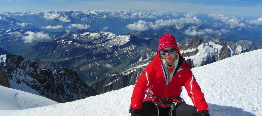 Na szczycie Mont Blanc