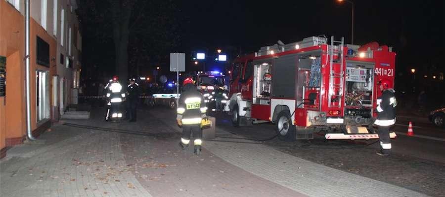 Akcja strażaków na ul. Warszawskiej w Giżycku