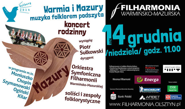 Warmia i Mazury folklorem podszyte - rodzinny koncert w filharmonii - full image