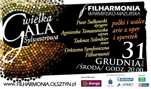 Wielka gala sylwestrowa w olsztyńskiej filharmonii - full image