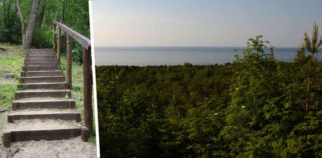 Schody prowadzące na grzbiet i widok z Wielbłądziego Garbu - full image